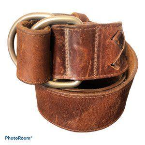 EDDIE BAUER Double Hook Leather Belt